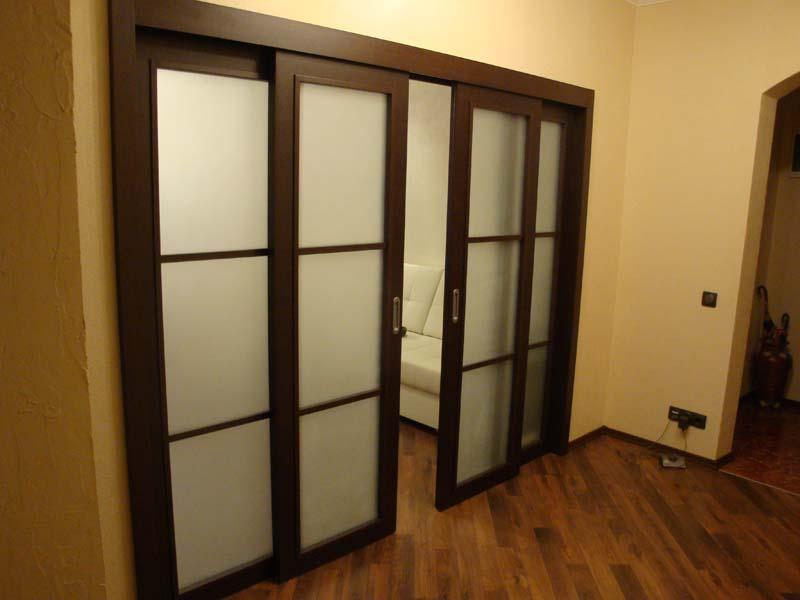 Раздвижные двери в квартире фото